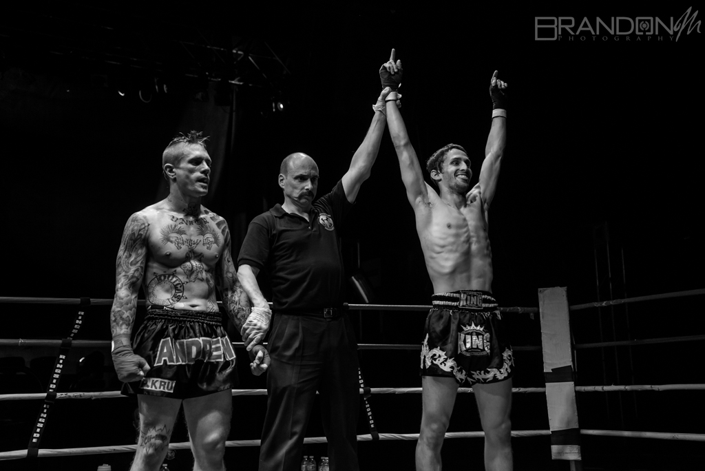 WKF Guelph MMA K1 Canadian Title Dennis Megaffin VS Andrew Stone - Brandon Marsh Photography 2014