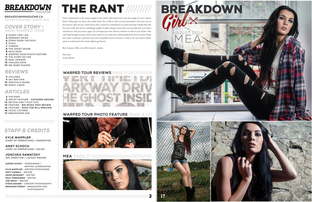 brandon marsh photography model mea adamson make up artist andria dipanfilo breakdown magazine breakdown girl