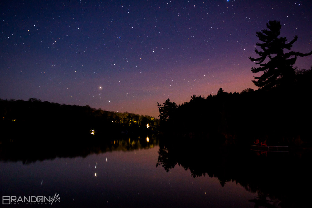 starry sky in parry sound - golden hour