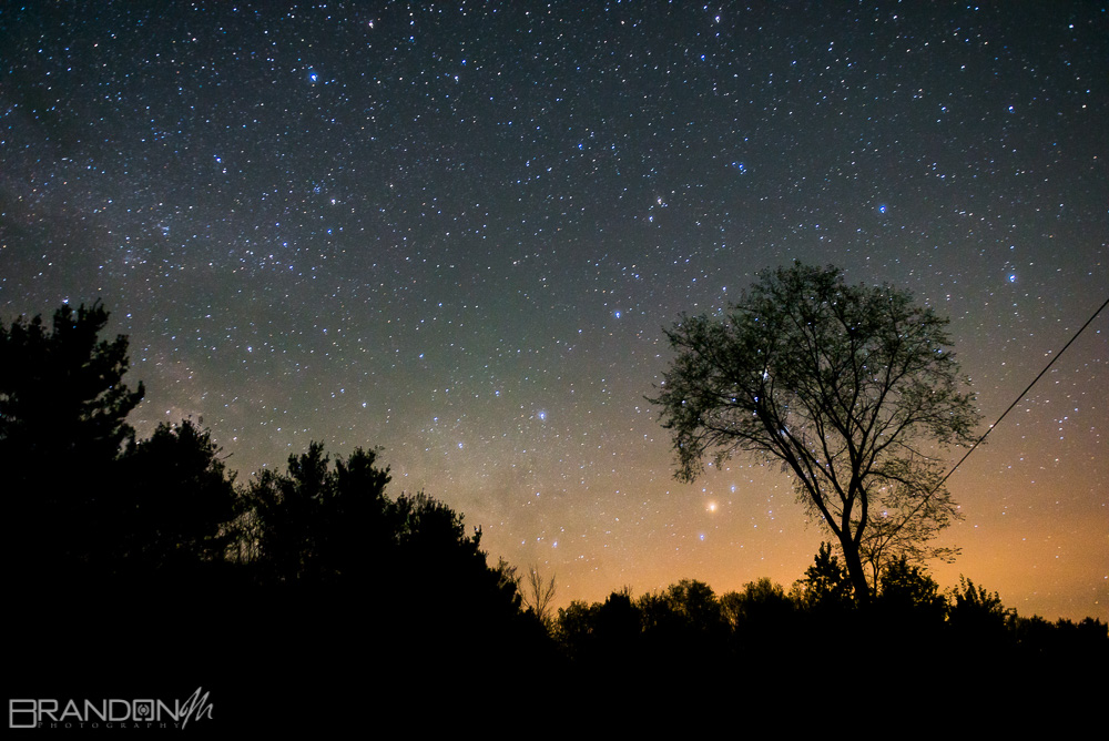 starry sky in parry sound 3 am and alone in the wild