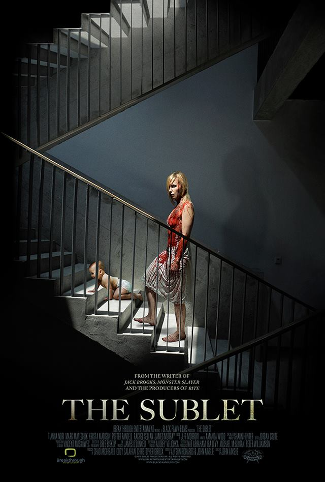 """""""The Sublet"""" Movie Poster - Brandon Marsh Photography - Black Fawn Films - Breakthrough Entertainment - Commercial Photography, Guelph, Toronto, Canada"""