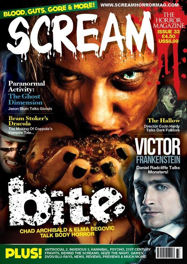 Scream Magazine UK & USA Featuring the Movie BITE and Antisocial 2 - Black Fawn Films Breakthrough Entertainment & Brandon Marsh Photography