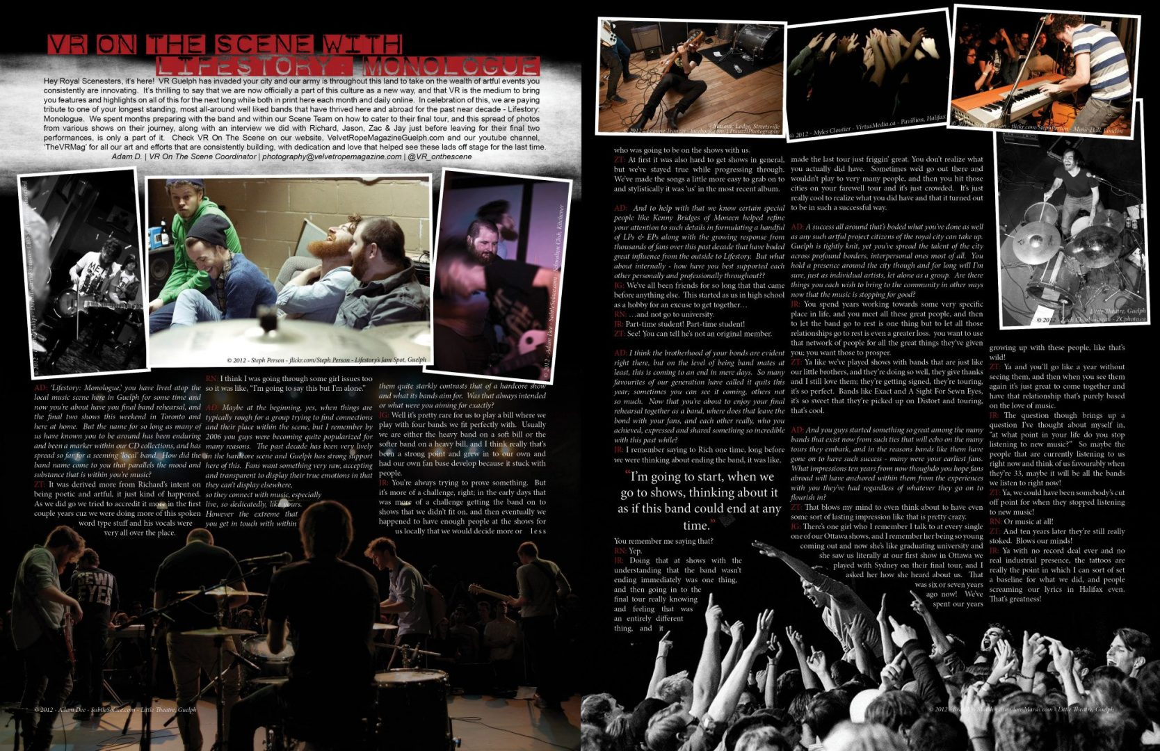My first Publication. Image of Lifestory: Monologue in Bottom Right of the tear sheet.