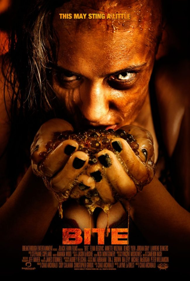 Bite The Movie Cover of Actress Elma Begovic. Advertising Photography for Black Fawn Films and Breakthrough Entertainment By Brandon Marsh Photography in Toronto, Ontario Canada