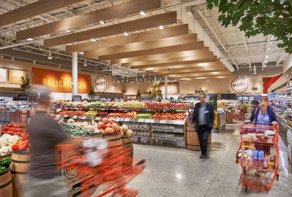Photo of produce section at Pioneer Rd Zehrs Grand Reopening shot by brandon marsh photography in kitchener, ontario, canada
