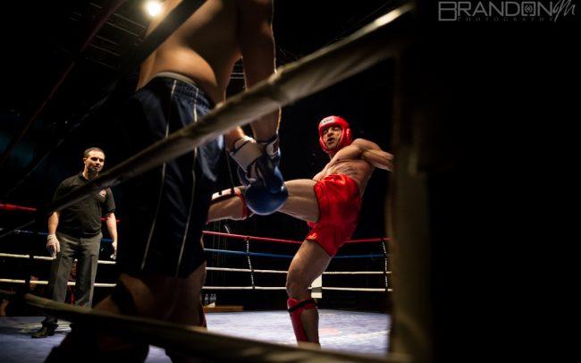 WKF Guelph MMA K1 Canadian Title Dennis Megaffin VS Andrew Stone - Brandon Marsh Photography 2014