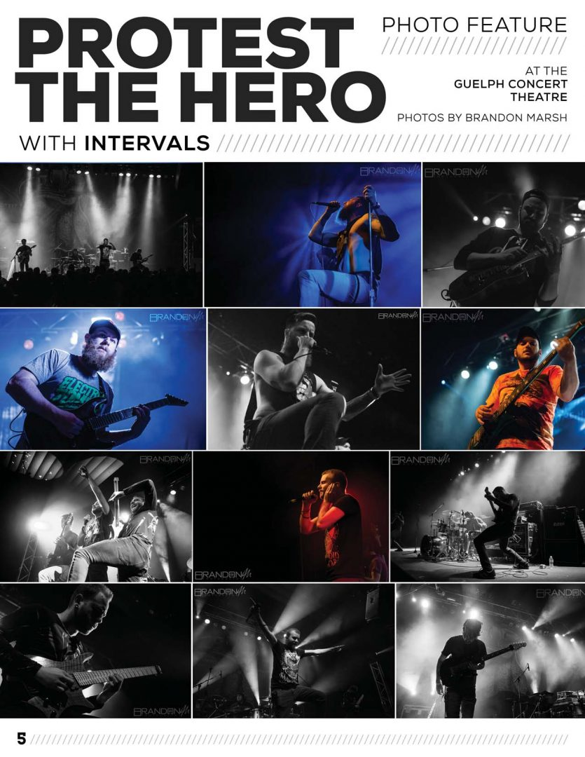 Breakdown Magazine Protest the Hero Brandon Marsh Photography GAIN Music Invervals