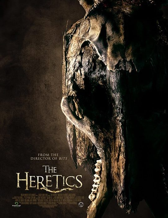 """The Heretics"" Movie Poster from Black Fawn Films & Breakthrough Entertainment, Toronto, Mask photographed in-studio by Brandon Marsh Photography Product Photography, Commercial Advertising Photography Edited by Dog & Pony"