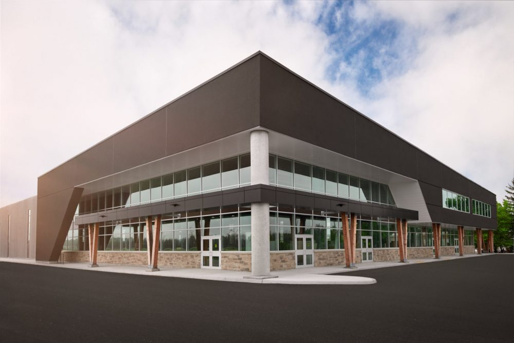Architecture   Exterior Photography of Barzotti Woodworking Inc new warehouse in Guelph Ontario by Brandon Marsh Photography Architecture by BJC architects inc.