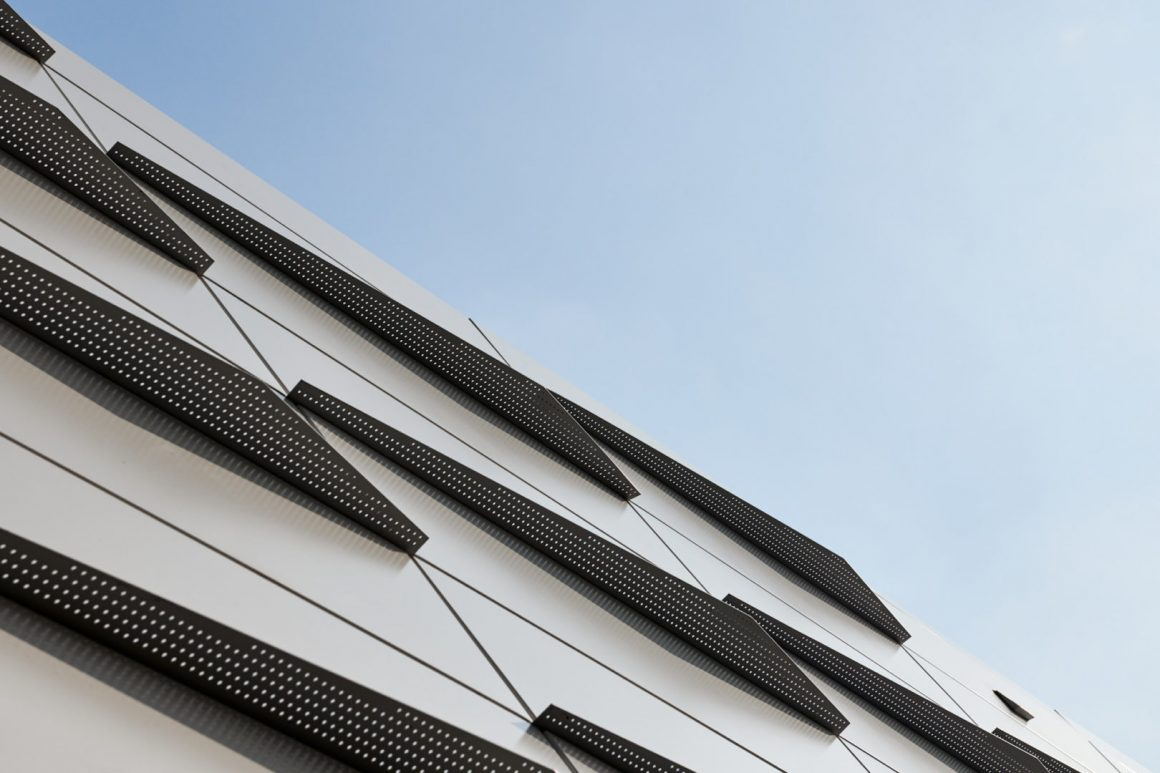 abstract architecture photo of exterior roof siding at Riply's Aquarium in Toronto by Toronto Architecture Photographer Brandon Marsh Photography
